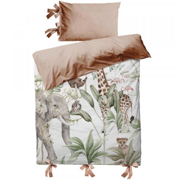 Dekornik Kinderbettwäsche Savannen Tiere 100 x 135