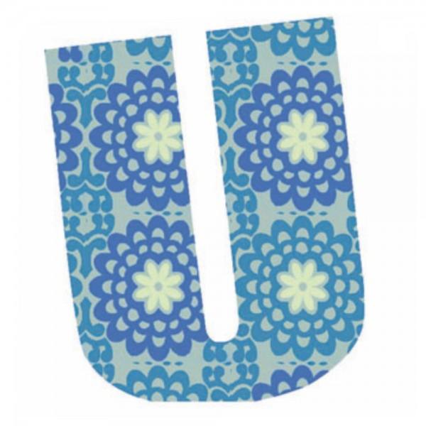 Lilipinso Sticker blau Buchstabe u