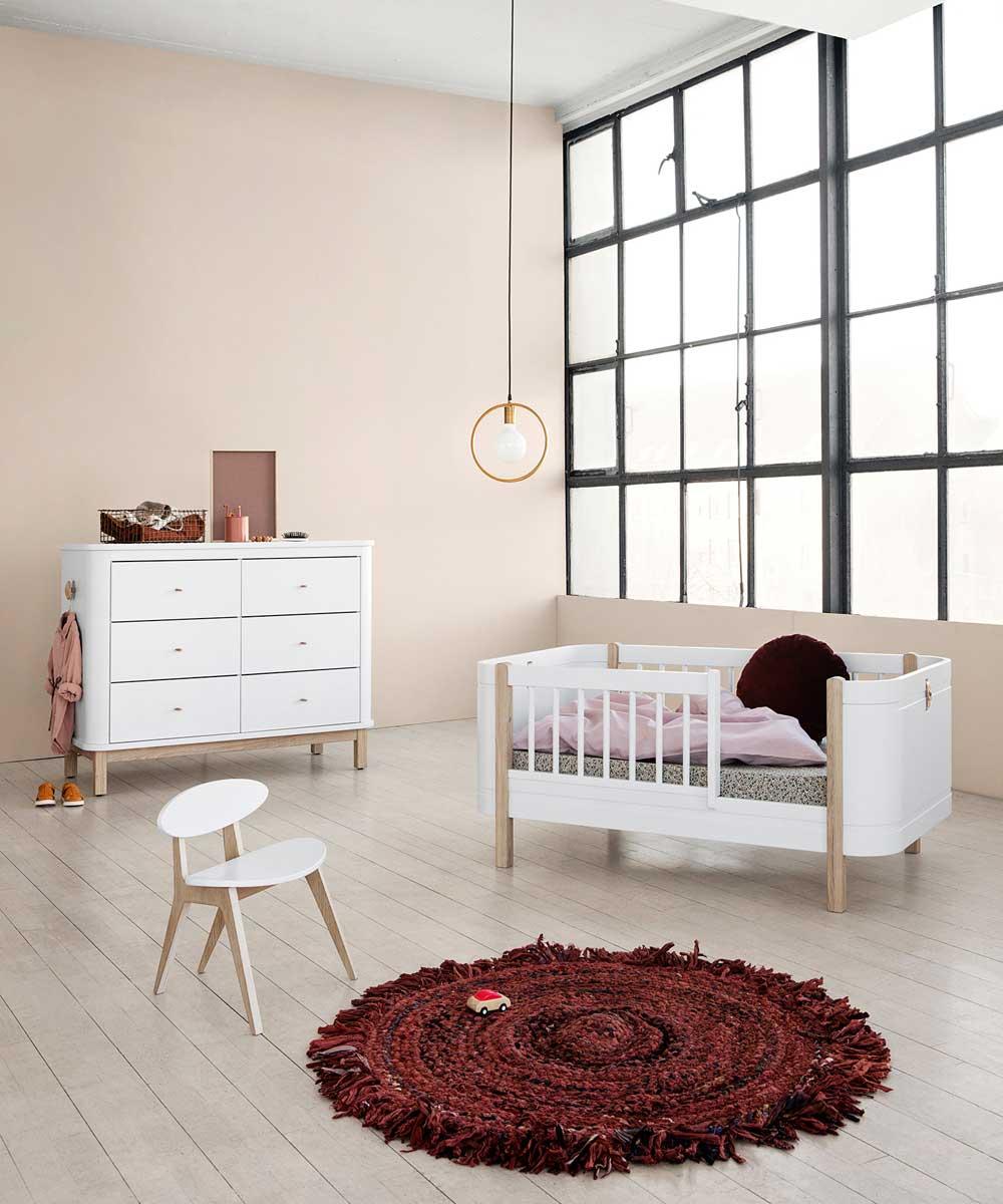 Oliver Furniture Wood Mini Babybett Umbaubar Zum Juniorbett Eiche