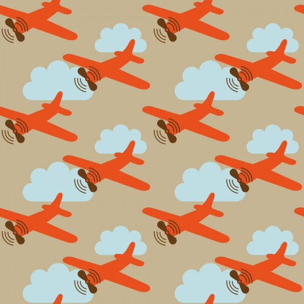 Lavmi Tapete Flugzeuge rot blau braun