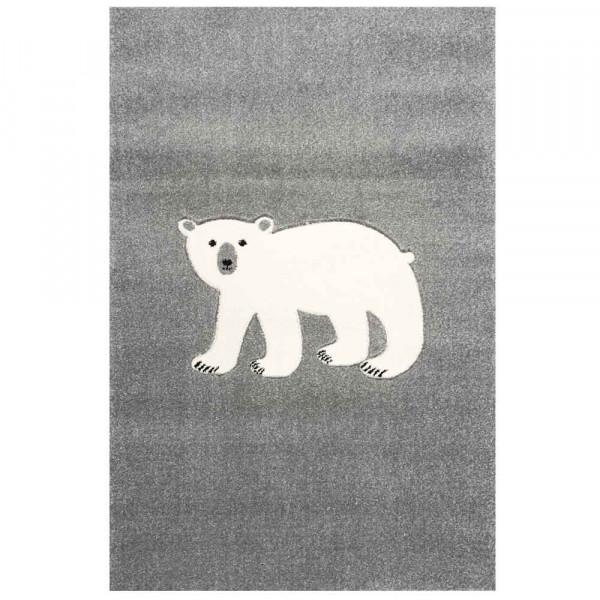 Scandic Living Kinderteppich Eisbär silbergrau