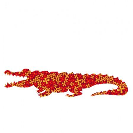 Inke Tapetenkrokodil Pusteblume rot