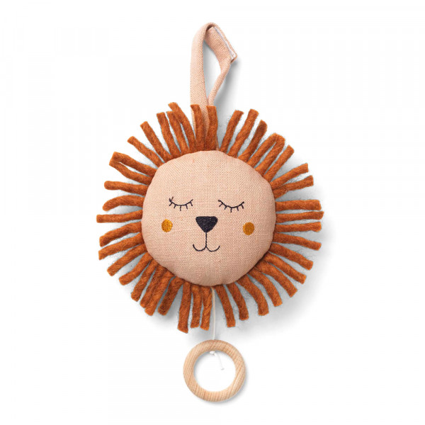 Ferm Living Baby-Spieluhr Löwe rosa