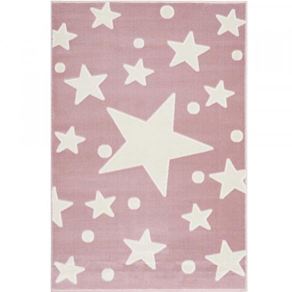 Livone Teppich Estrella Stern & Konfetti rosa