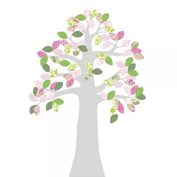 Inke Tapetenbaum silber grün/rosa