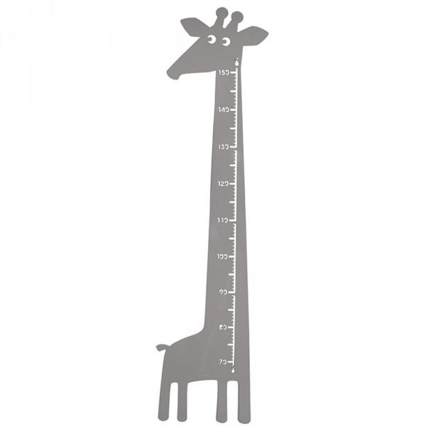Roommate Messlatte Giraffe Metall grau