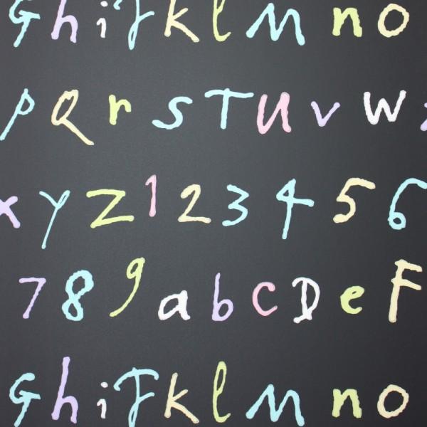 Osborne & Little Tapete Buchstaben schwarz bunt