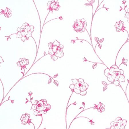 Esta Home Tapete Blumenranke pink