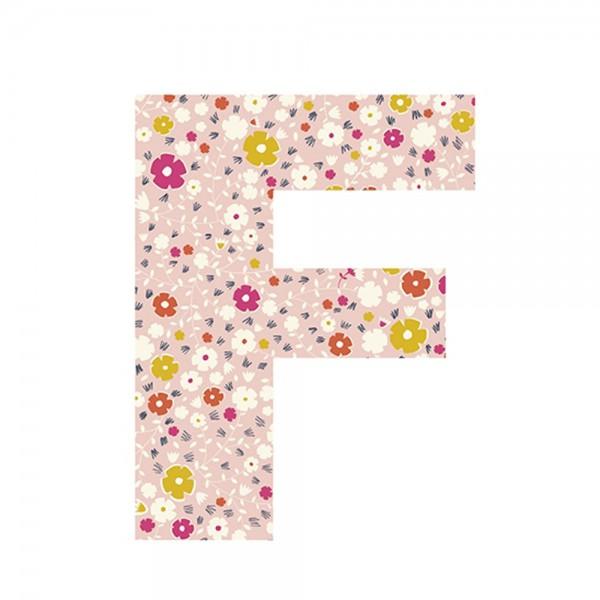 Lilipinso Sticker Buchstabe geblümt F