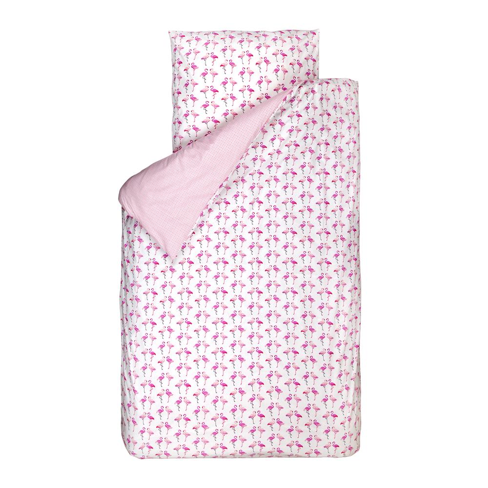 bink bettw sche flamingos pink wei 135 x 200 bei kinder r ume. Black Bedroom Furniture Sets. Home Design Ideas