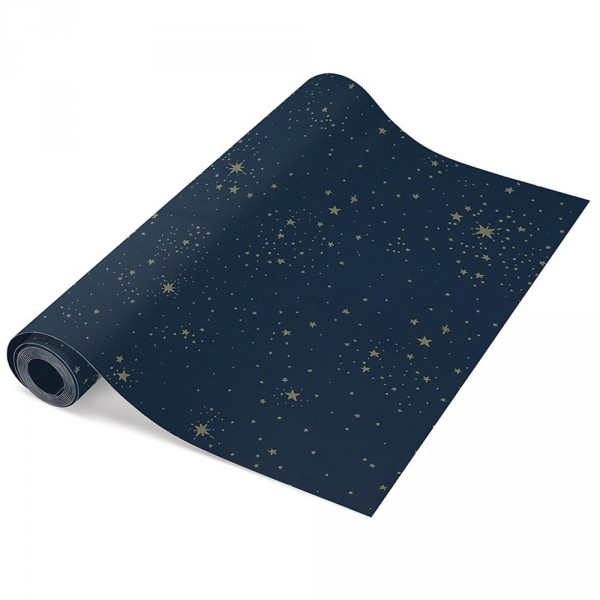 Nobodinoz Tapete goldene Sterne blau