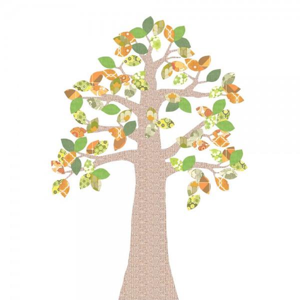 Inke Tapetenbaum Relief grün/braun