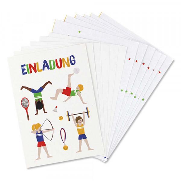 Ava & Yves Einladungskarten Kindergeburtstag Athleten