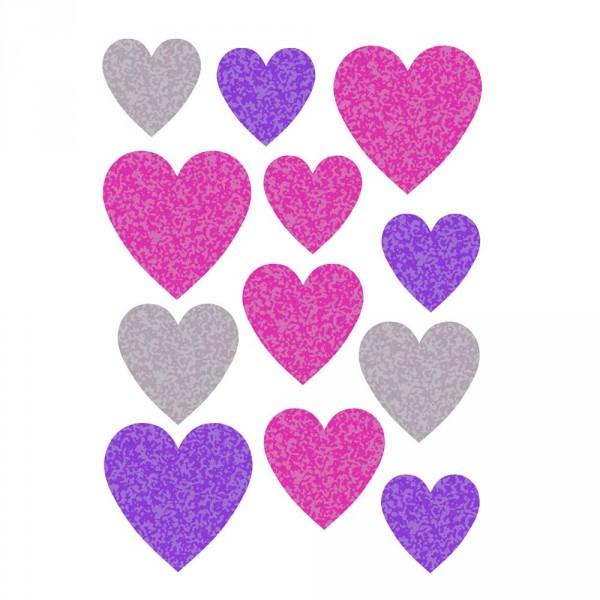 Buokids Wandsticker Herzen lila & pink