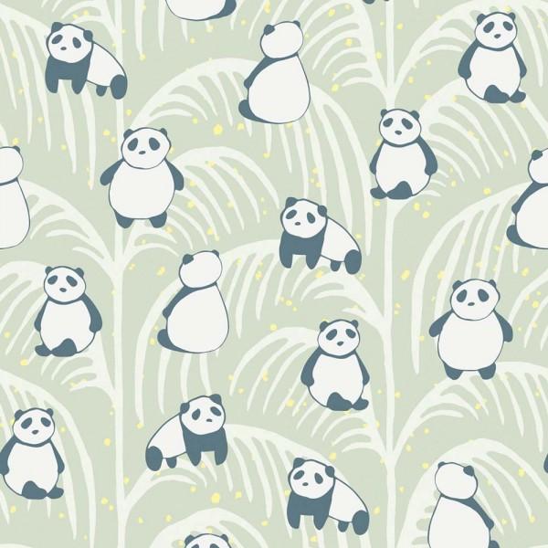 Eijffinger Wandbild Pandas grün
