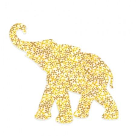 Inke Babyelefant Pusteblume gelb