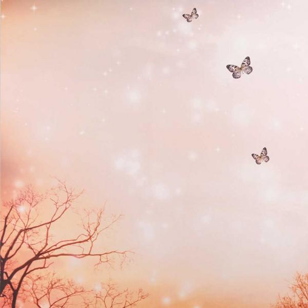 Caselio Ohlala Wandbild Himmel & Schmetterlinge