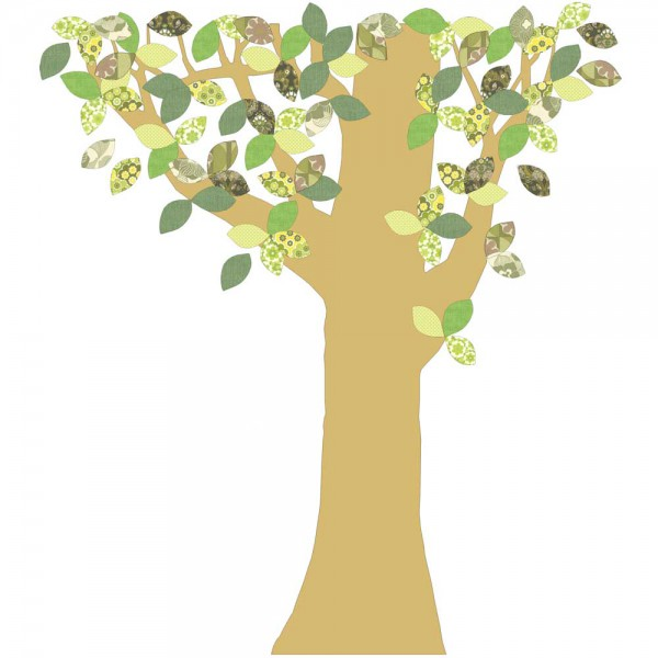 Inke Tapetenbaum Goldstamm grün