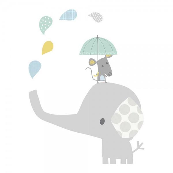 Lilipinso Wandsticker XL Elefant mit Maus
