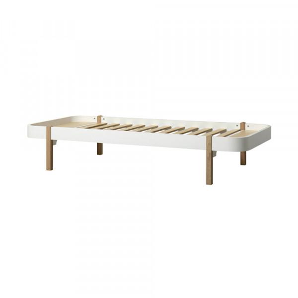 Oliver Furniture Wood Lounger Liege 120 x 200 cm weiss mit Eiche