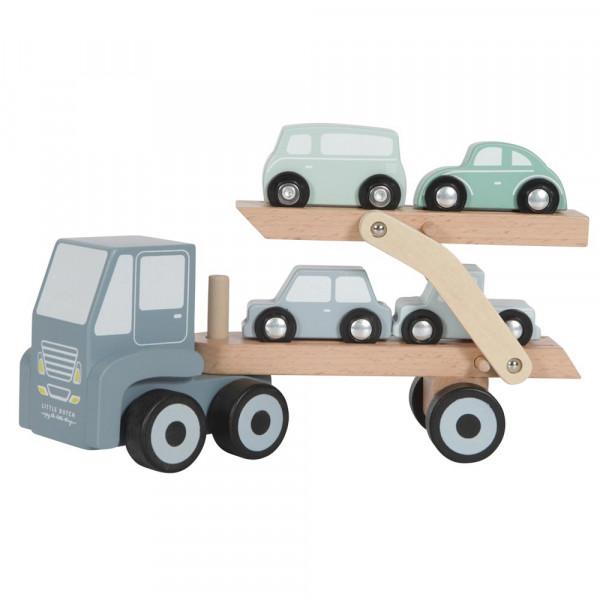 Little Dutch Holz Autotransporter blau