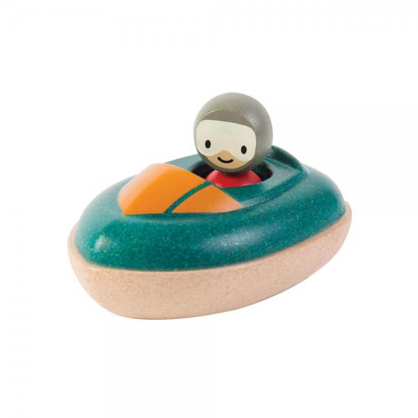 Plan Toys Badewannen Speed Boot Holz grün