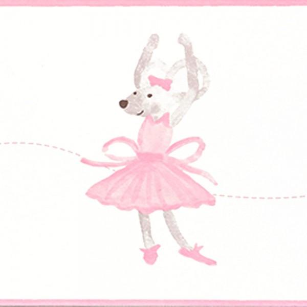 Casadeco Douce Nuit Bordüre Ballett Maus rosa
