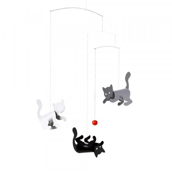 Flensted Mobile spielende Katzen