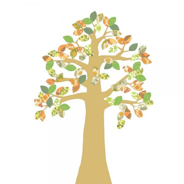 Inke Tapetenbaum gold grün/braun