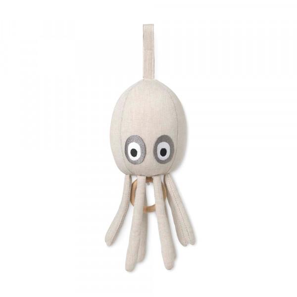 Ferm Living Baby-Spieluhr Octopus Denim beige