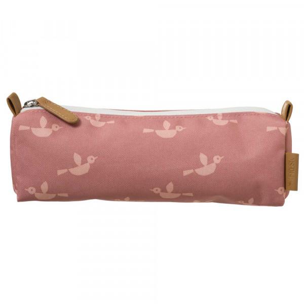 Fresk Stiftemäppchen Vögel rosa