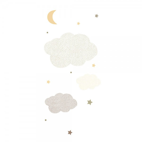 Casadeco Arc En Ciel Wandbild Sternenhimmel silber gold