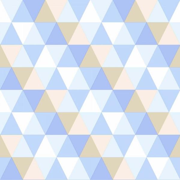 Rasch Textil Everybody Bonjour Tapete Dreiecke blau