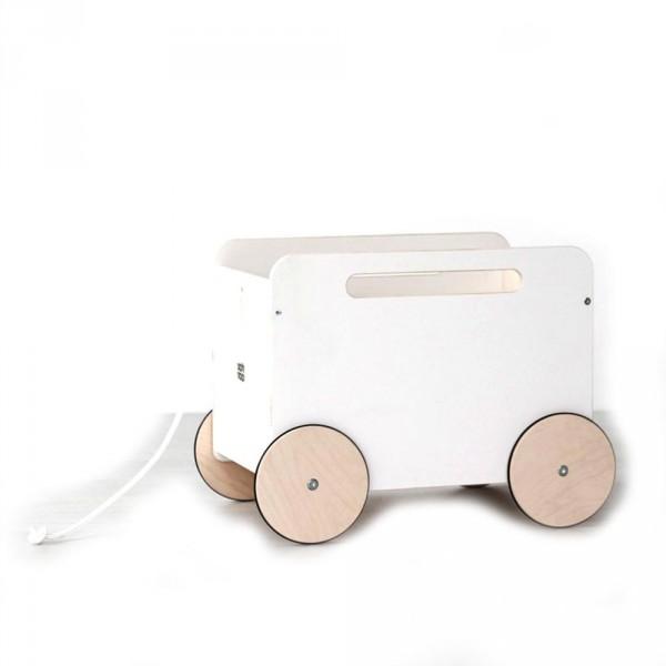 ooh noo Spielzeugkiste auf Rädern weiss
