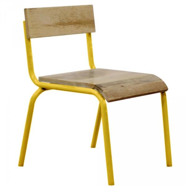 Kidsdepot Stuhl Metall Holz gelb