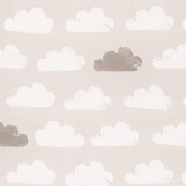 Eijffinger Tout Petit Kindertapete Wolken grau