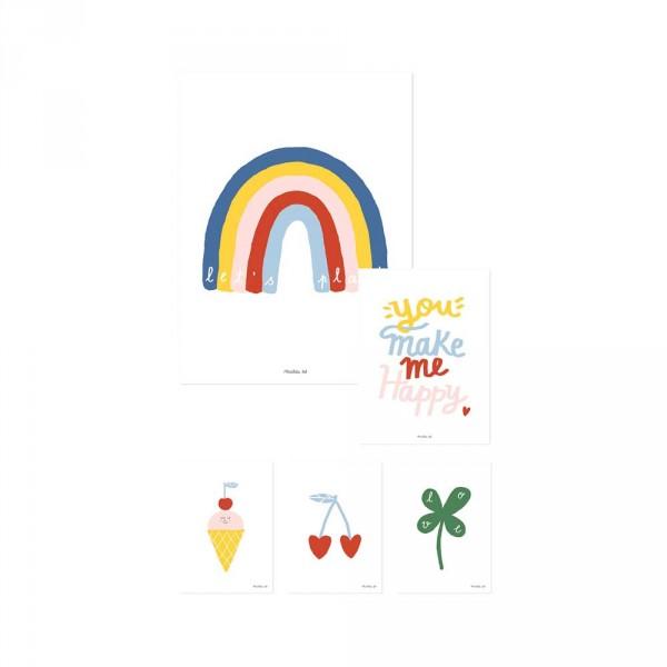 Lilipinso Poster-Set Regenbogen, Kirschen, Eis & mehr