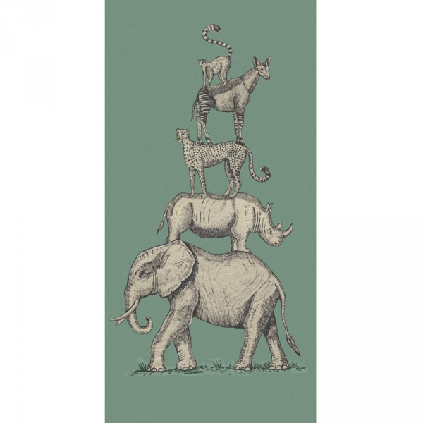 Eijffinger Wandbild Safari Tiere grün