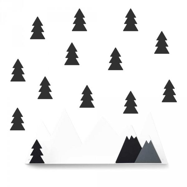 tresxics Wandregal Berge schwarz