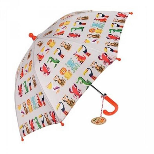 Rexinter Regenschirm bunte Tiere
