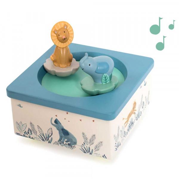 Moulin Roty Spieluhr Elefant und Löwe MDF