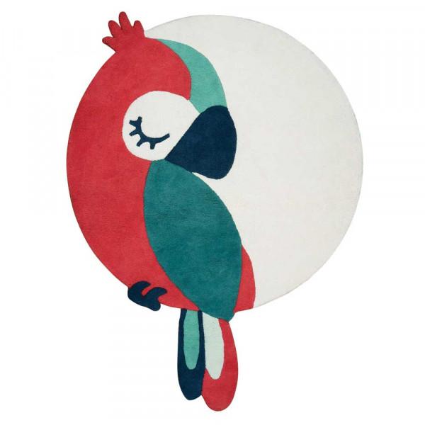 Lilipinso Teppich Schlafender Papagei rot