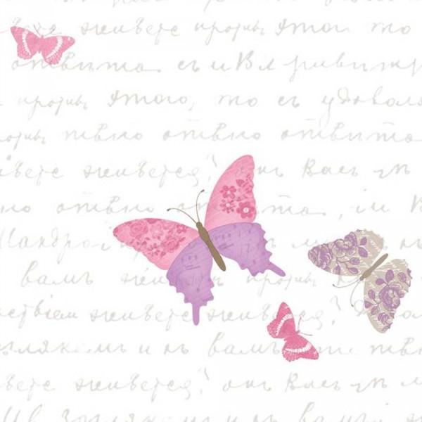 Caselio Pretty Lili Tapete Schmetterlinge flieder pink