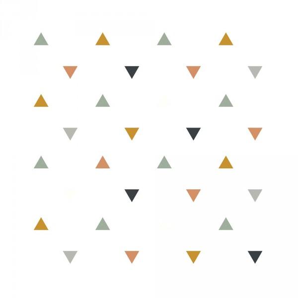 Lilipinso Vlies Tapete Dreiecke ocker blau grau beige