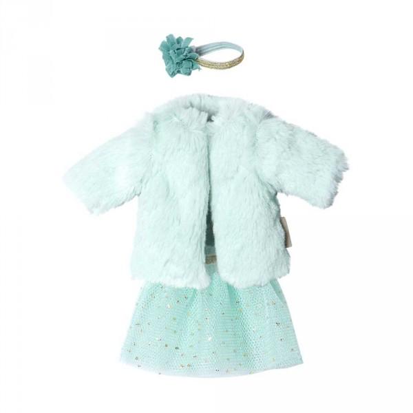 Maileg Bekleidungs-Set Kleid mit Mantel Schwester Ginger Grösse 1