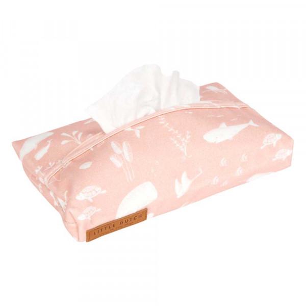 """Little Dutch Feuchttuch Box Bezug """"Ocean pink"""""""
