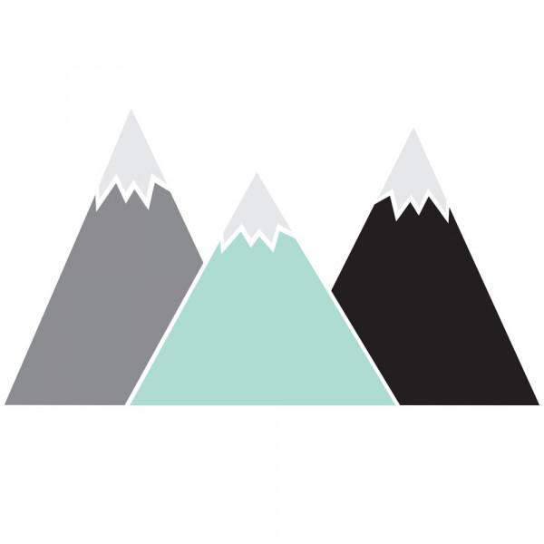 Dekornik Wandsticker Berge mint grau schwarz