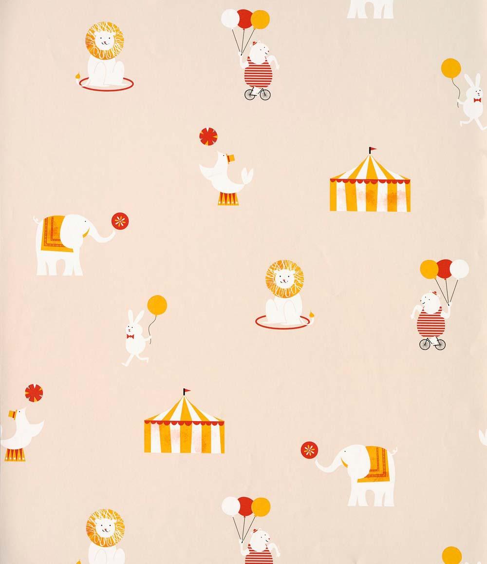 Wandgestaltung Mit Tapeten Zirkus | Cosas Minimas Vliestapete Zirkus Beige Bei Kinder Raume