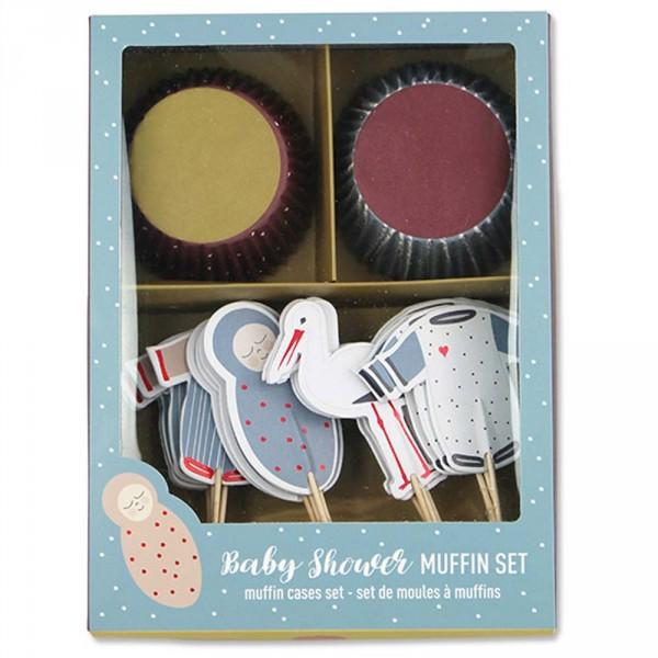 Ava & Yves Cupcake Set Babyshower