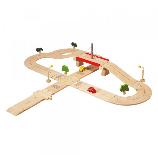 Plan Toys Spielzeug Strassensystem Deluxe Holz